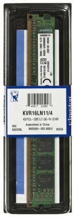 KINGSTON DDR3 4GB 1600MHz KVR16LN11/4 1,35V